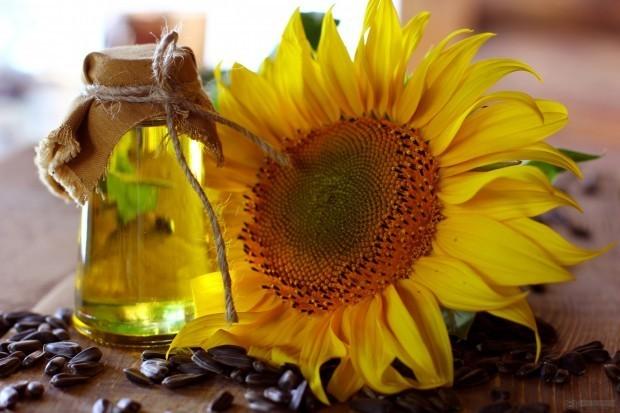 óleo de semente de girassol prensado a frio