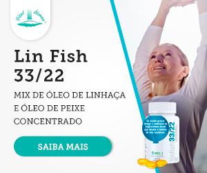 Lin Fish 33/22, mix de óleo de linhaça e óleo de peixe concentrado